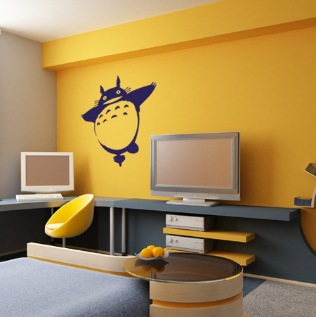 totoro wall sticker spin collective wall stickers wall decals